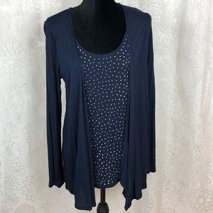 Inc international concepts long sleeve blouse M
